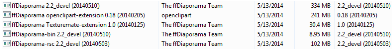 ffDiaporama has four uninstallers for various components